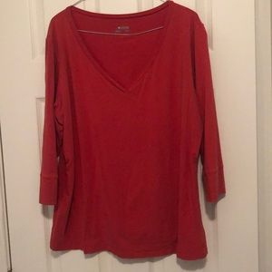 Long sleeved, v-neck Columbia shirt - Size 1X
